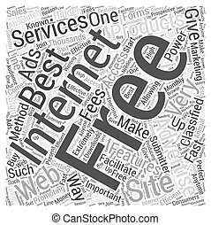 Free internet advertising Word Cloud Concept