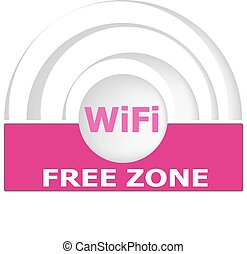 Free internet zone sign