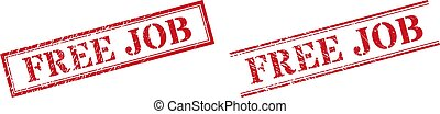 FREE JOB Textured Scratched Stamp Watermarks with Double Rectangle Frame