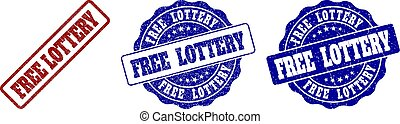 FREE LOTTERY Scratched Stamp Seals