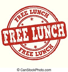 Free lunch sign or stamp