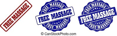 FREE MASSAGE Grunge Stamp Seals