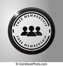 Free membership black badge