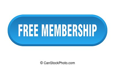 free membership button. rounded sign on white background - ...