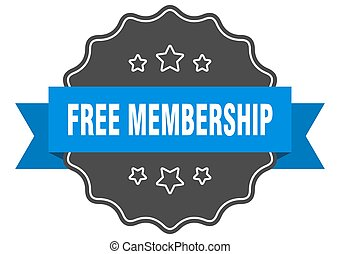 free membership label. free membership isolated seal. ...