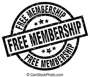 free membership round grunge black stamp