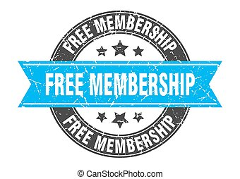 free membership round stamp with ribbon. label sign - free ...