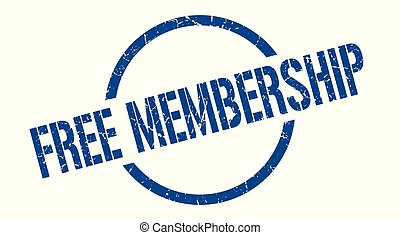 free membership blue round stamp