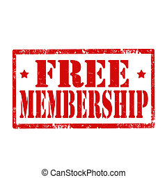 Free Membership-stamp - Grunge rubber stamp with text Free...