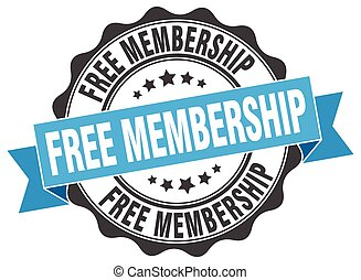 free membership stamp. sign. seal