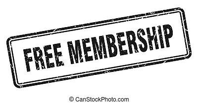 free membership stamp. square grunge sign on white background