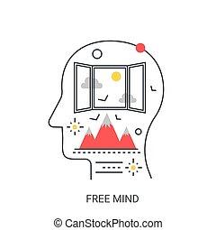 Free mind vector illustration concept.