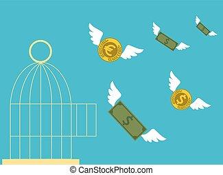 Free money. Business concept.