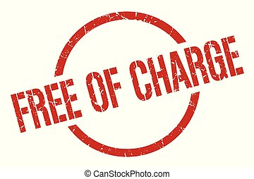 free of charge stamp - free of charge red round stamp