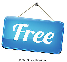 free of charge - Free product trial sample offer or gratis...