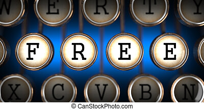 Free on Old Typewriter's Keys. - Free on Old Typewriter's...