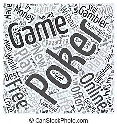 free online poker games Word Cloud Concept