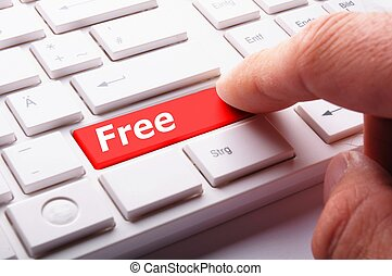 free or discount concept with word key or keyboard