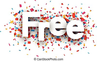 Free paper confetti sign.