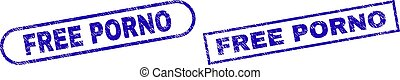 FREE PORNO Blue Rectangle Stamp with Rubber Style - Blue ...