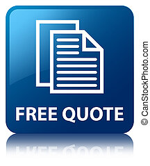 Free quote blue square button