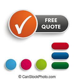 Free Quote Button Black Orange