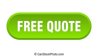free quote button. rounded sign on white background