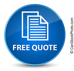 Free quote elegant blue round button