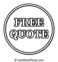 Free quote icon