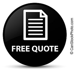 Free quote (page icon) black round button