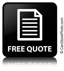 Free quote (page icon) black square button
