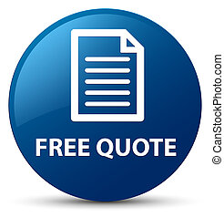Free quote (page icon) blue round button