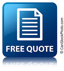 Free quote (page icon) blue square button