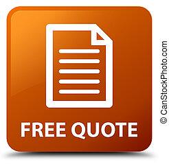 Free quote (page icon) brown square button