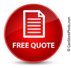 Free quote (page icon) elegant red round button