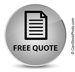 Free quote (page icon) elegant white round button