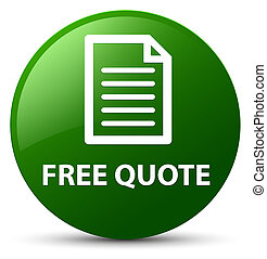 Free quote (page icon) green round button