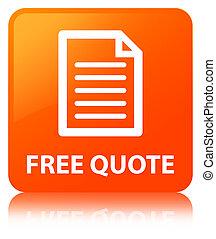 Free quote (page icon) orange square button