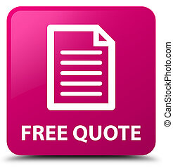 Free quote (page icon) pink square button