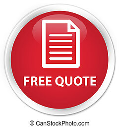 Free quote (page icon) premium red round button