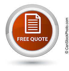 Free quote (page icon) prime brown round button