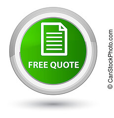 Free quote (page icon) prime green round button