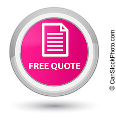 Free quote (page icon) prime pink round button