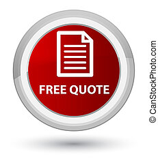 Free quote (page icon) prime red round button