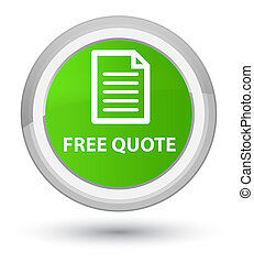 Free quote (page icon) prime soft green round button