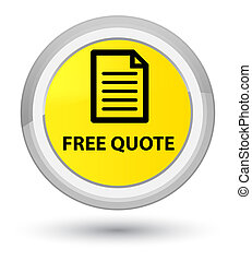 Free quote (page icon) prime yellow round button