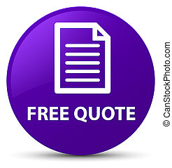 Free quote (page icon) purple round button