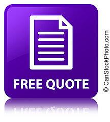 Free quote (page icon) purple square button