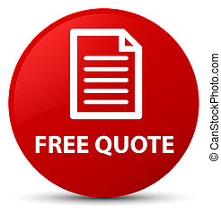 Free quote (page icon) red round button
