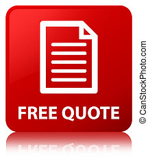 Free quote (page icon) red square button